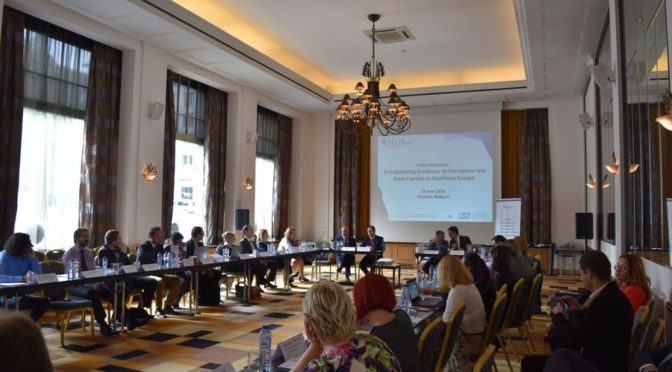 Strengthening Resilience to Corruption in SEE