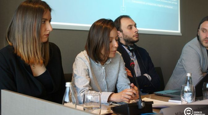 Results of the research presented in Podgorica